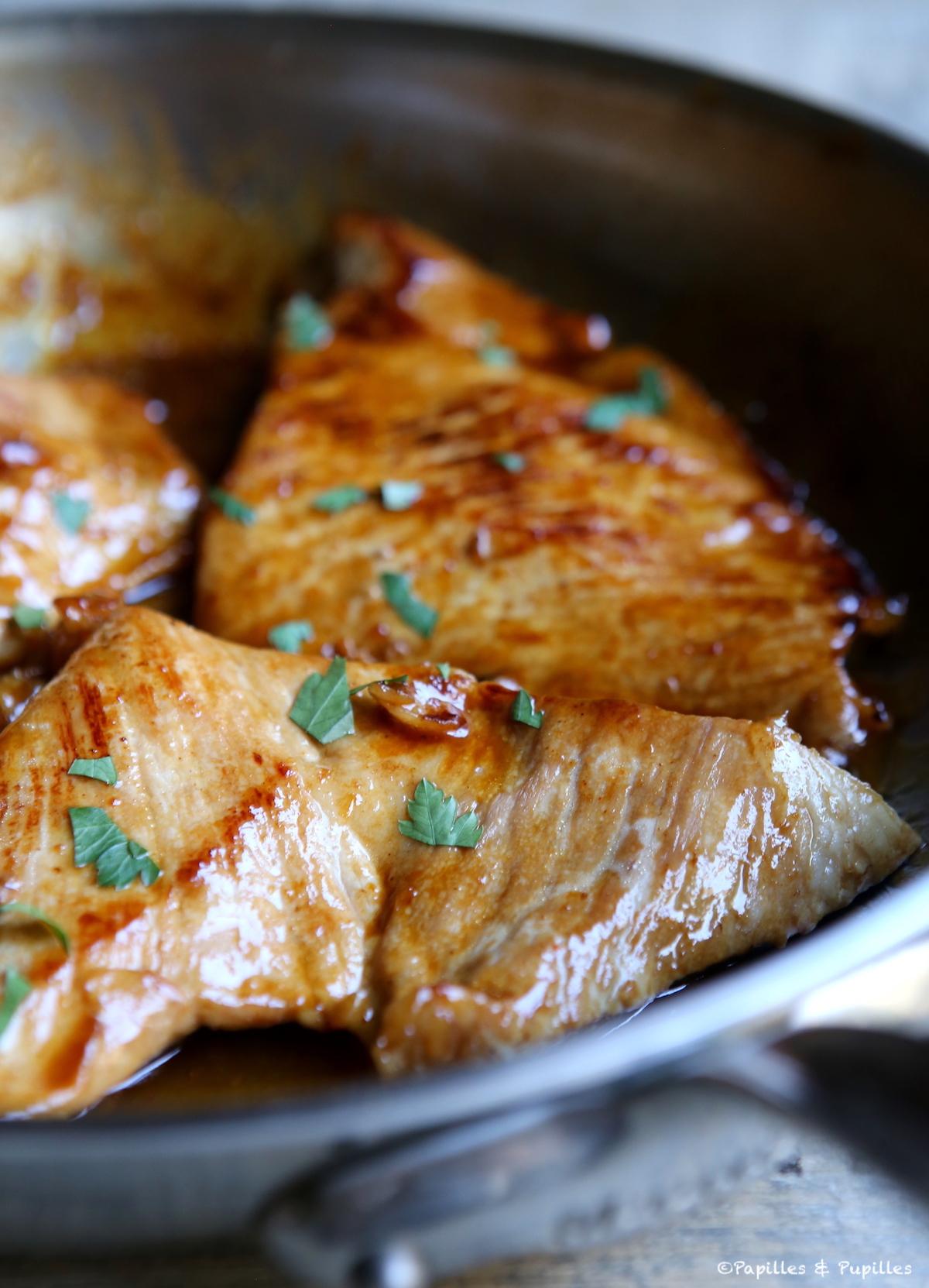 Grillades de porc marinées au miel, orange, piment