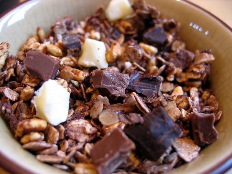 Granola aux 3 chocolats