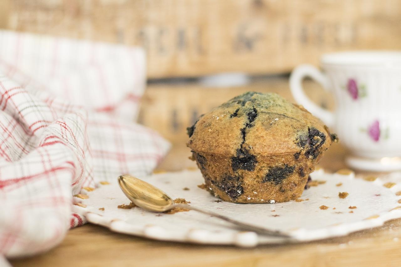 Muffin aux myrtilles (c) Sophkins CC0 Pixabay