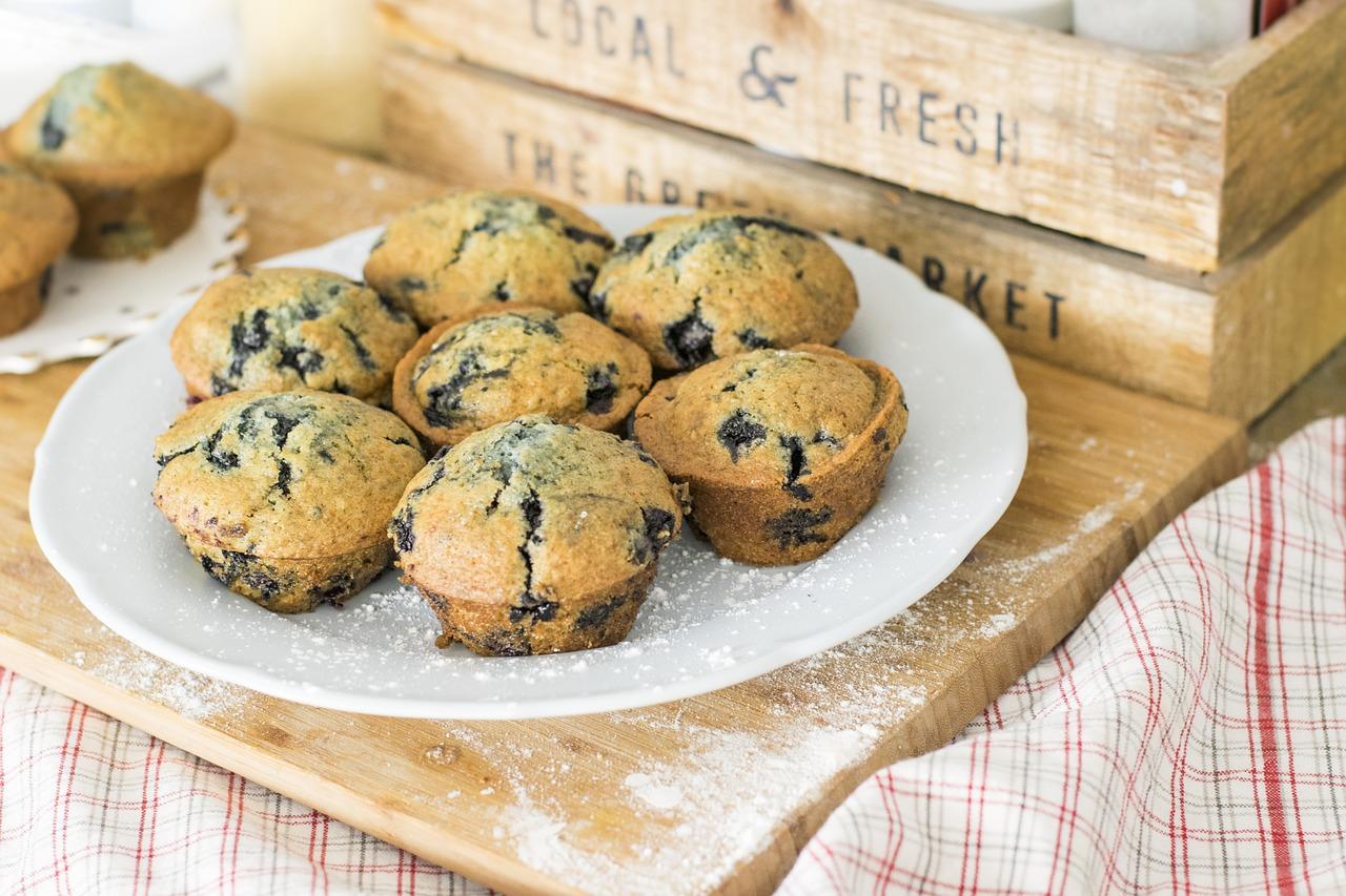 Muffins aux myrtilles (c) Sophkins CC0 Pixabay