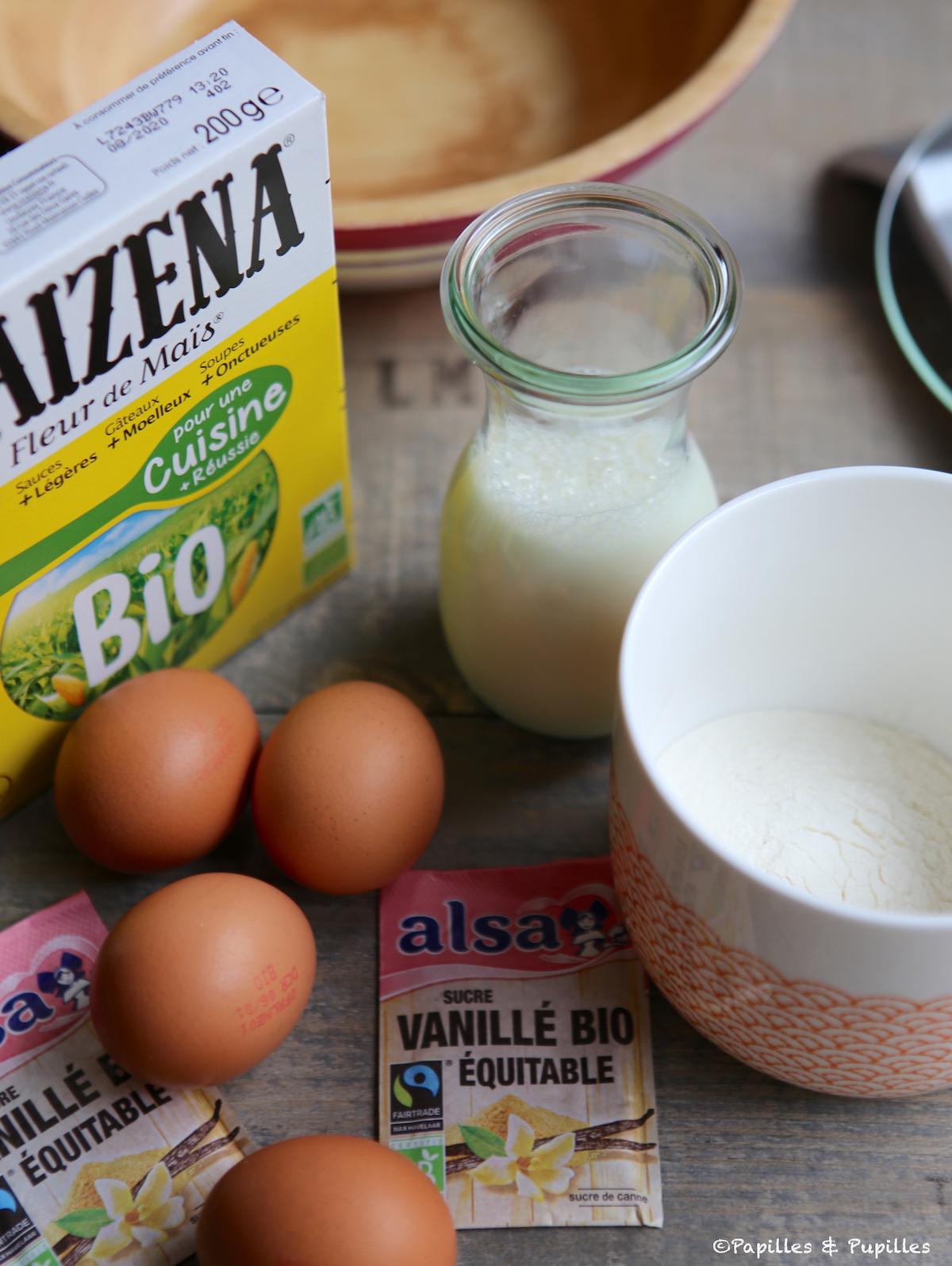 Les ingrédients de la pâte à crêpes