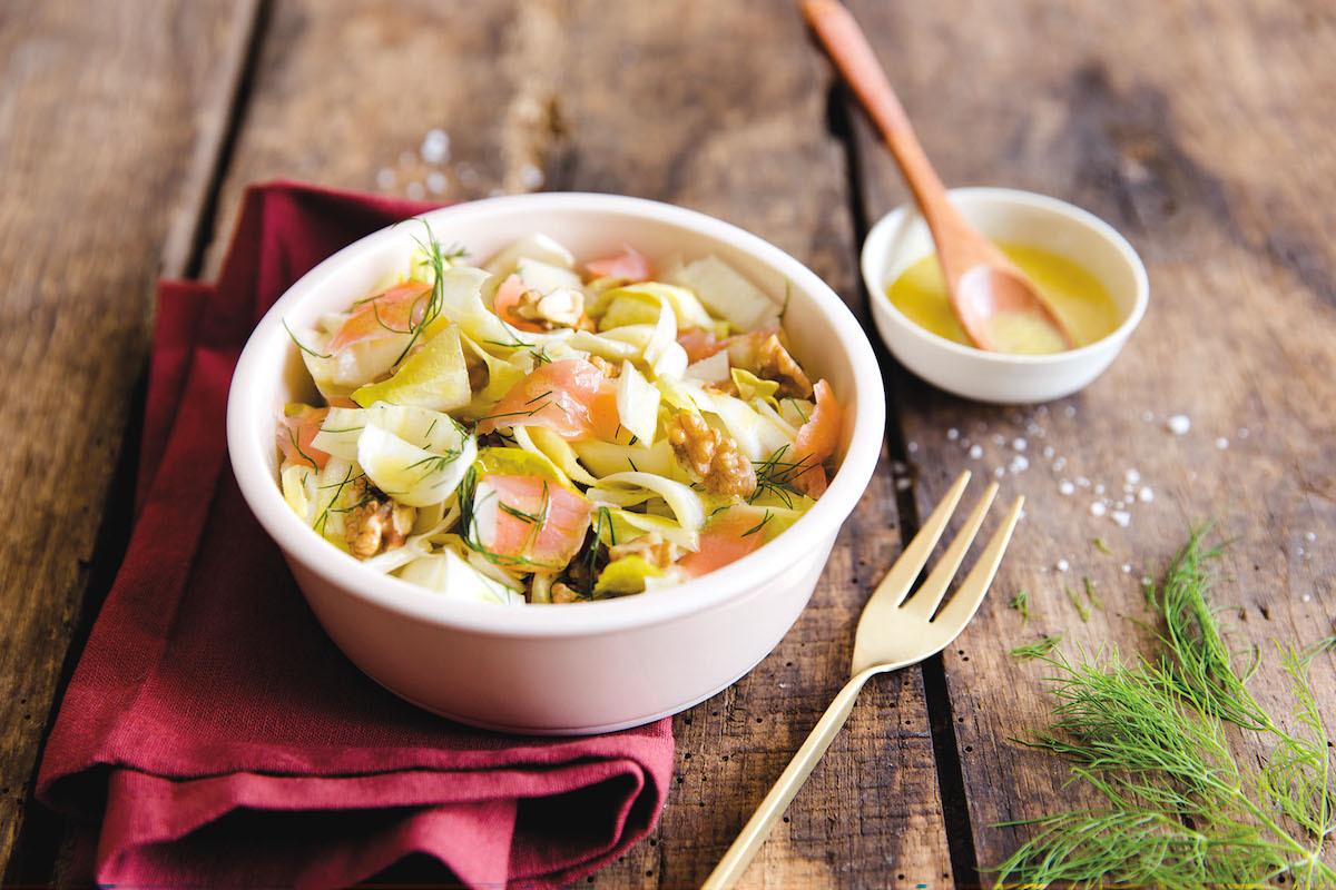 Salade d'endives et saumon
