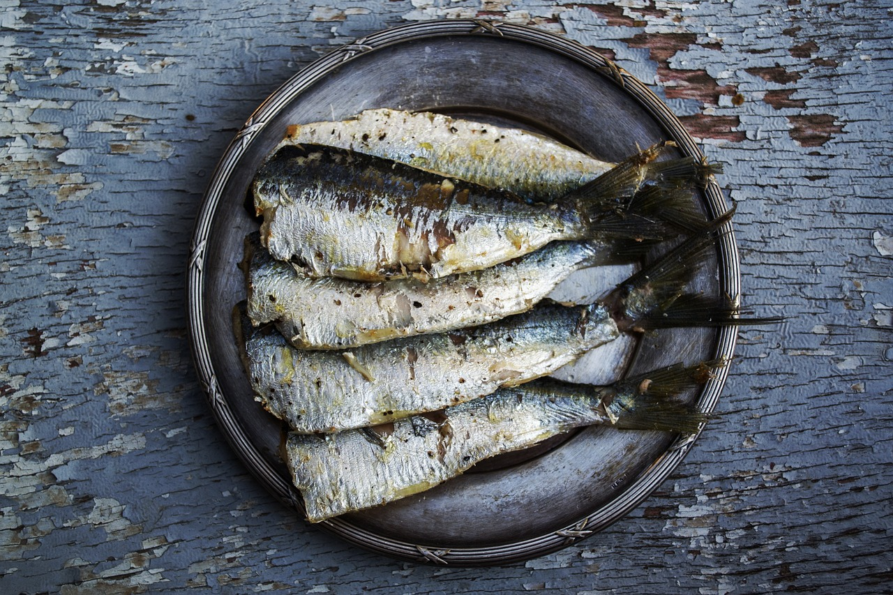 Sardines (c) greekfood-tamystika CC0 pixabay