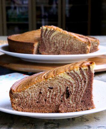 Gâteau zébré - Zebra cake