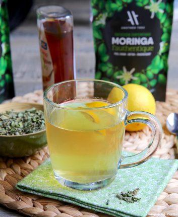 Tisane Moringa gingembre miel citron