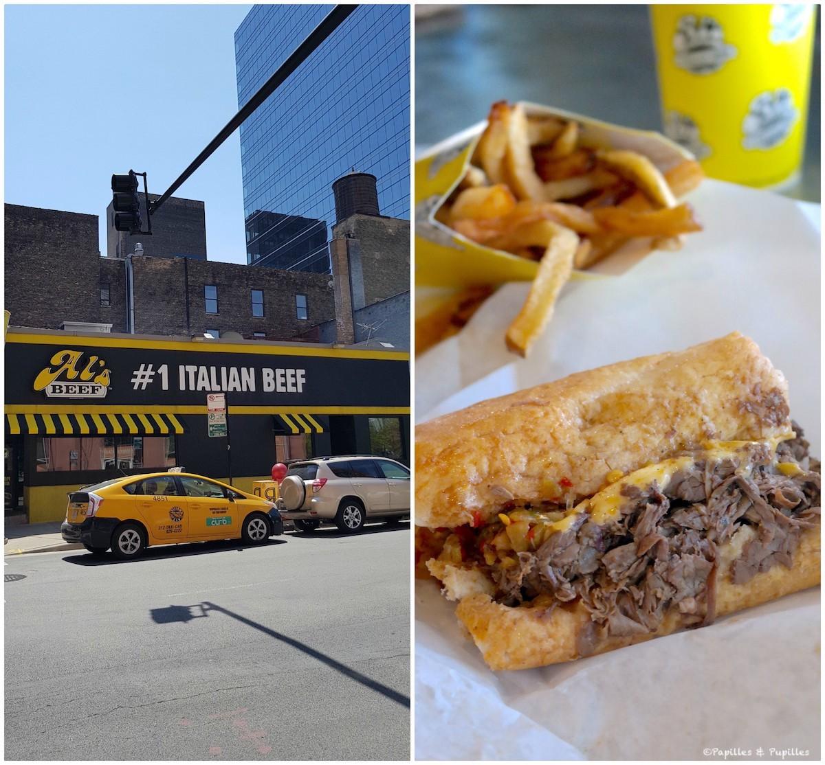 Italian beef sandwich chez Al's