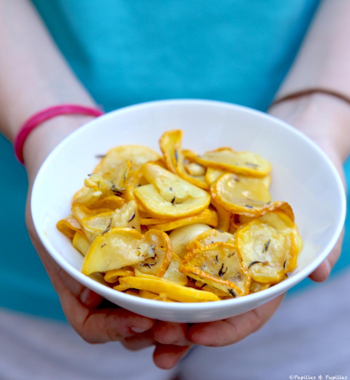 Courgettes sautées ail thym citron