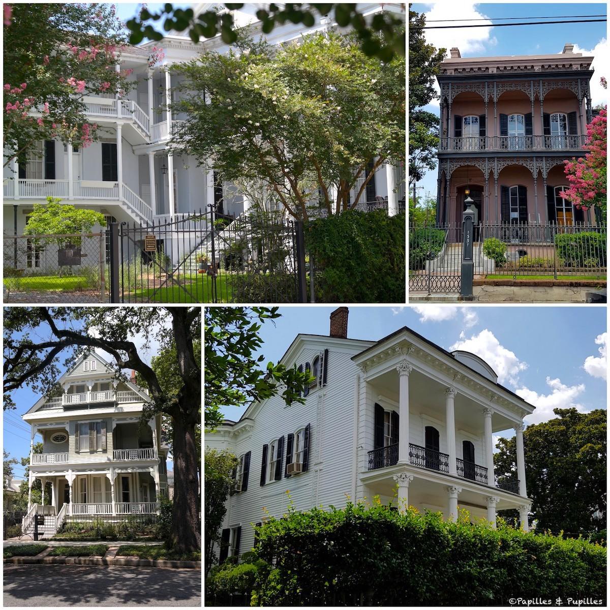 Les belles maisons de Garden District