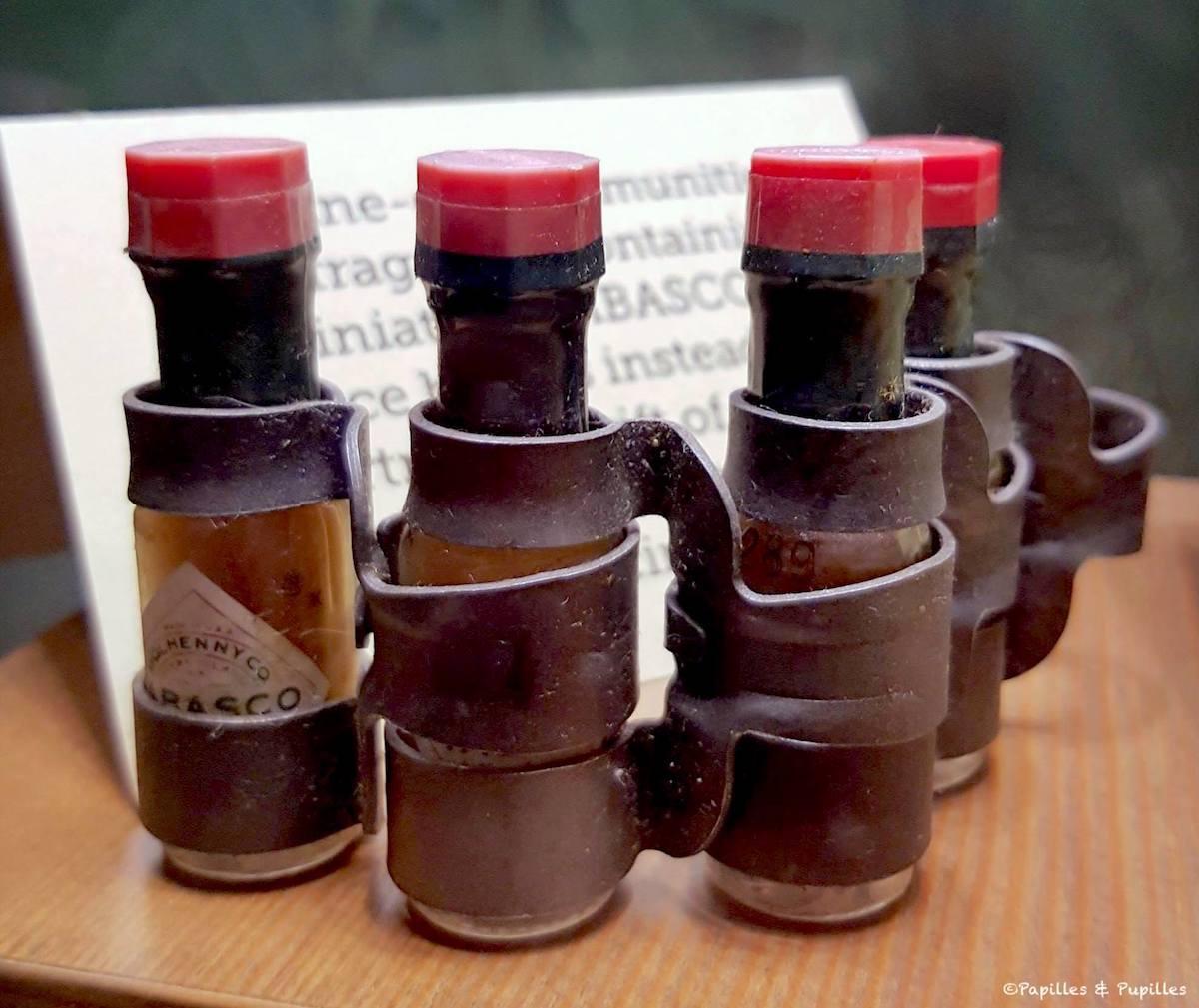 Mini bouteilles dans les rations des soldats