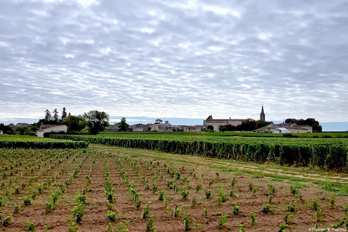 Vue sur Saint Emilion depuis Beau Séjour Bécot