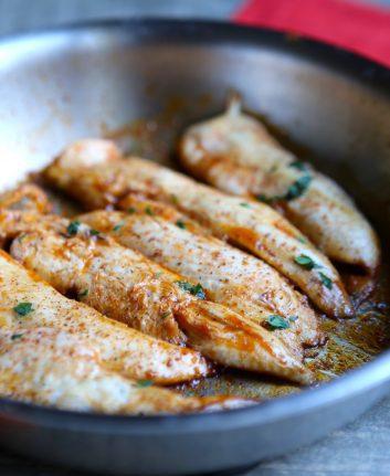 Aiguillettes de poulet à l'aigre douce