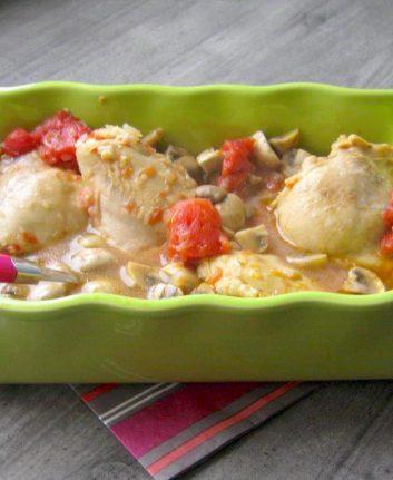 Poulet tomates champignons