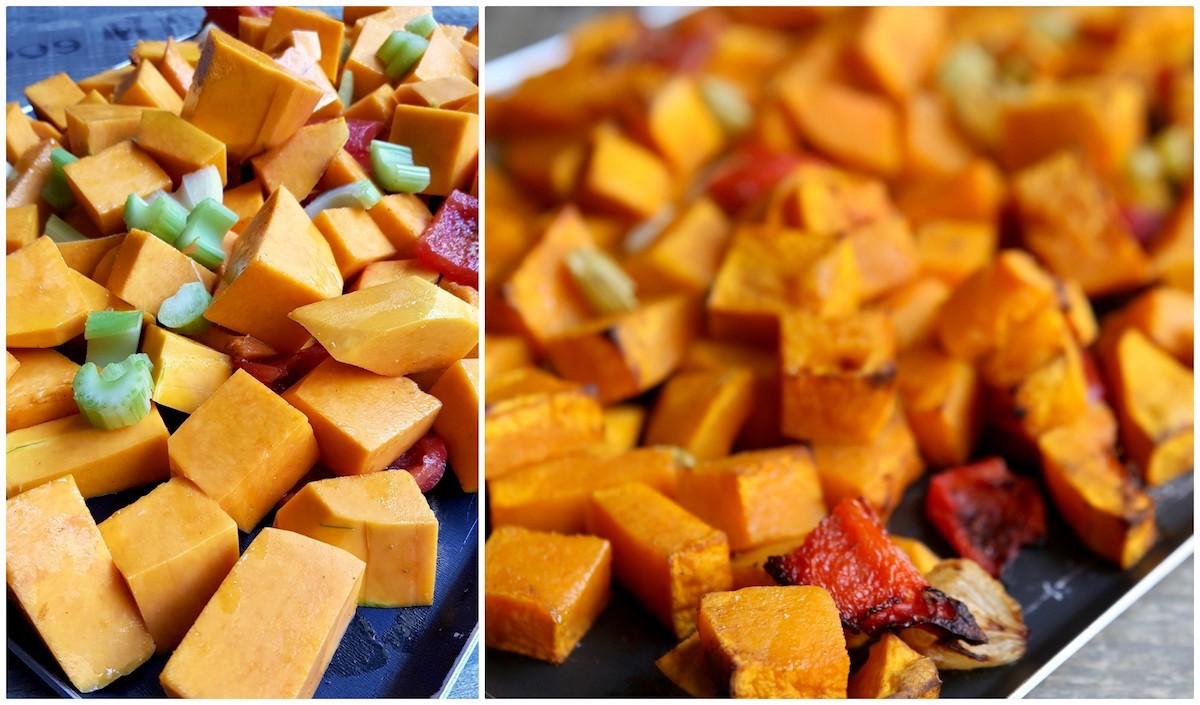 Avant et après cuisson