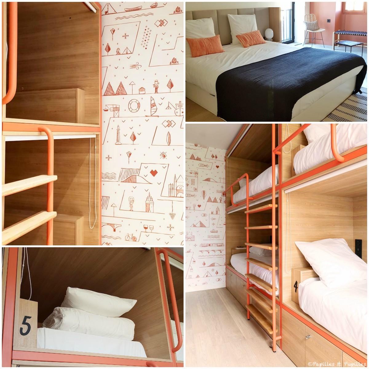 Chambre et dortoirs Central Hostel Bordeaux