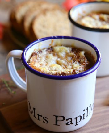 Soupe à l'oignon gratinée à l'Appenzeller
