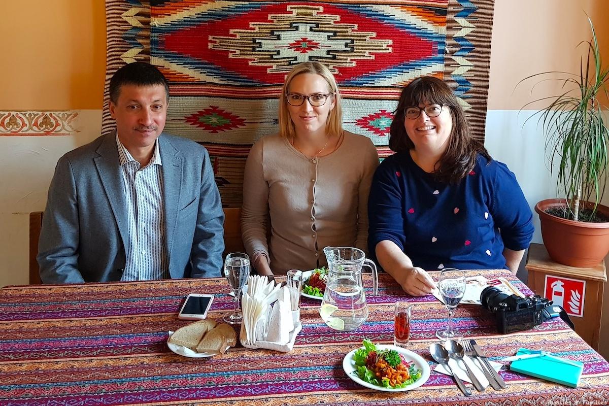 Avec Jurij Shpakovski et Lina mon guide