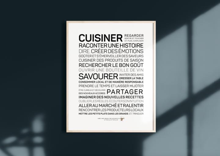 Des mots à l'affiche - Cuisiner