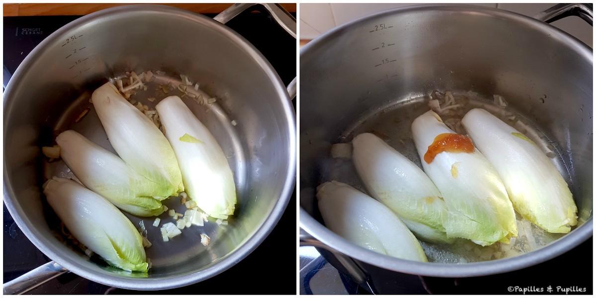 Endives en cours de cuisson