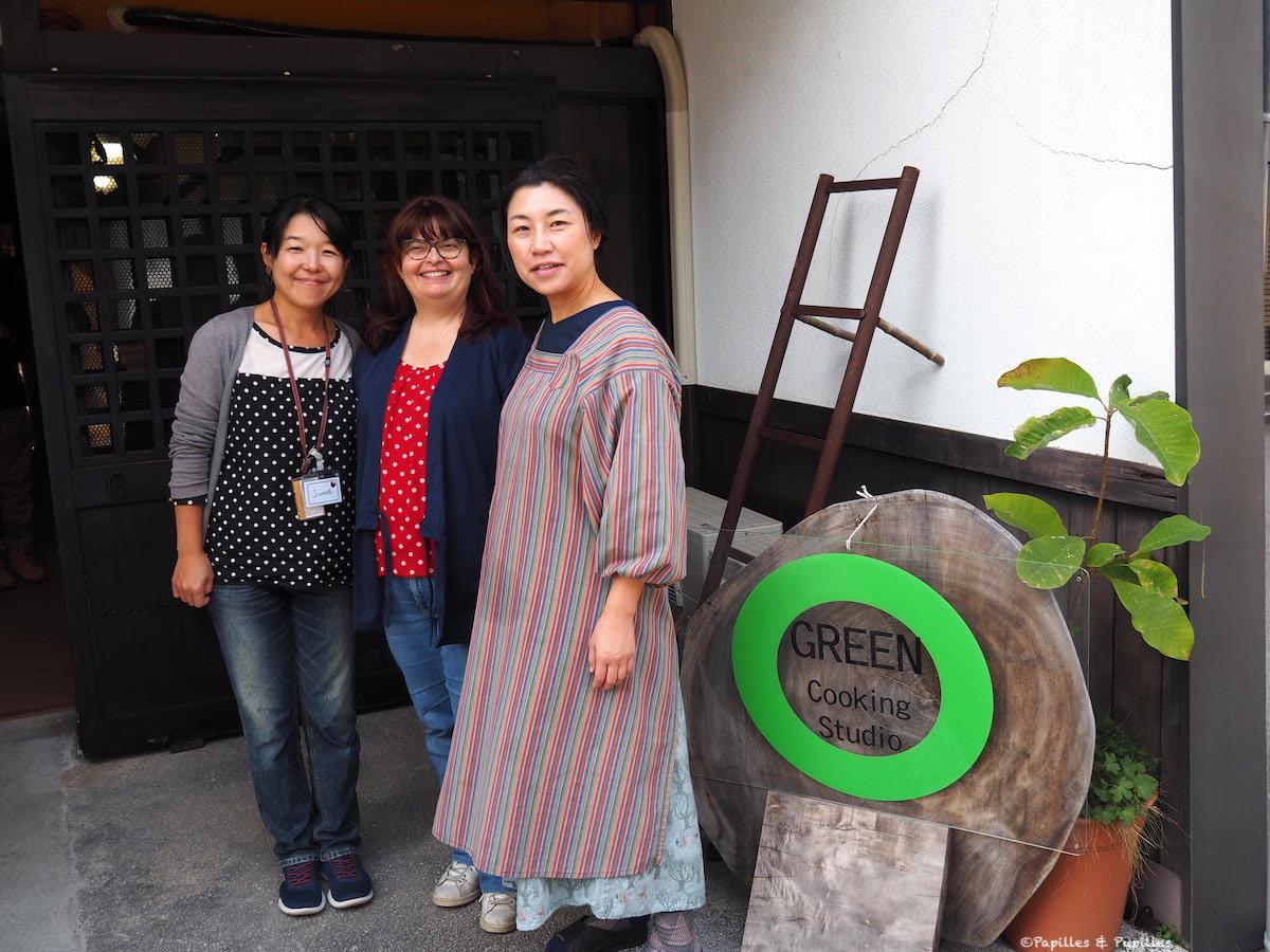 Avec Sanae et Midori de Green Cooking Studio