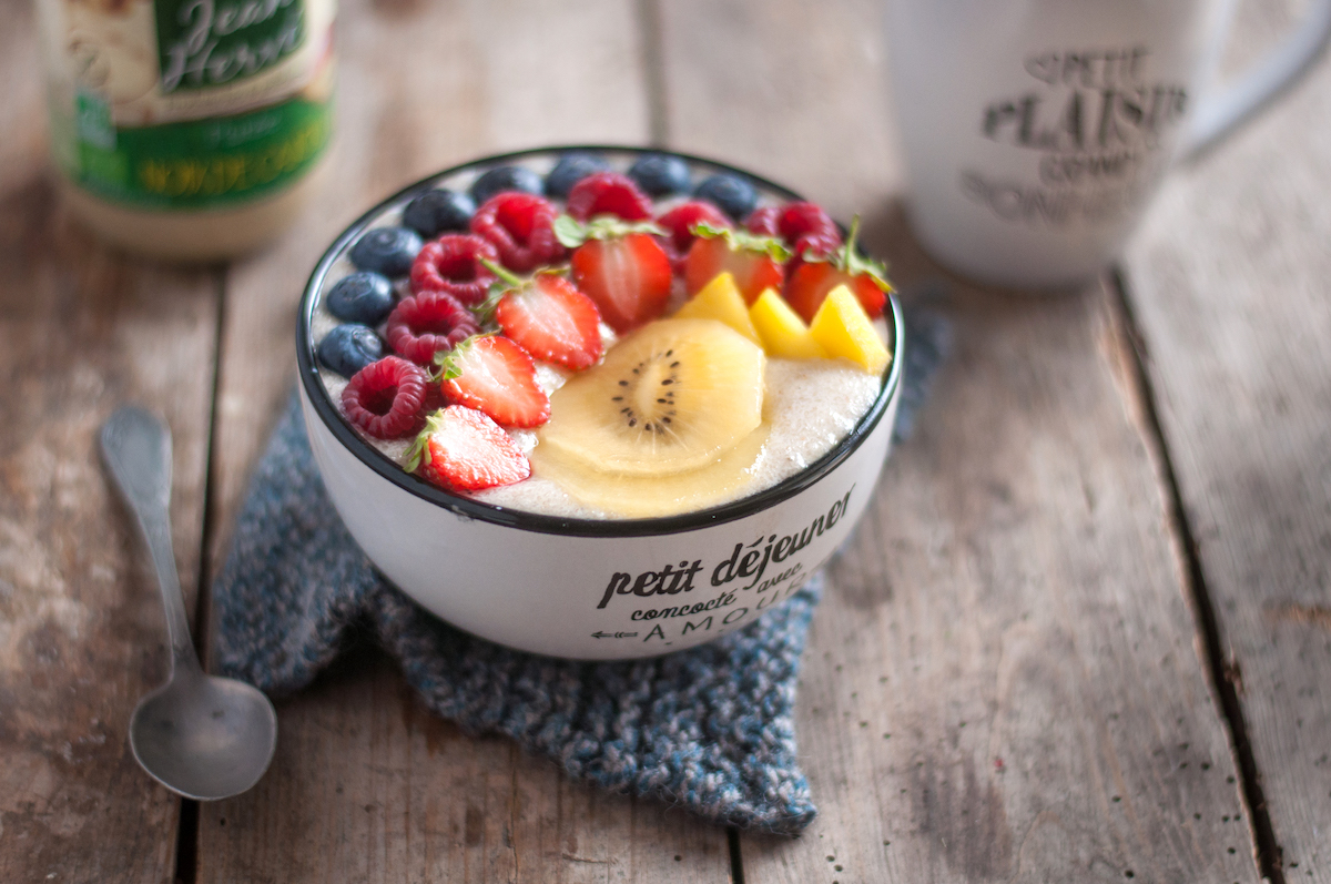Rainbow bowl du petit déjeuner
