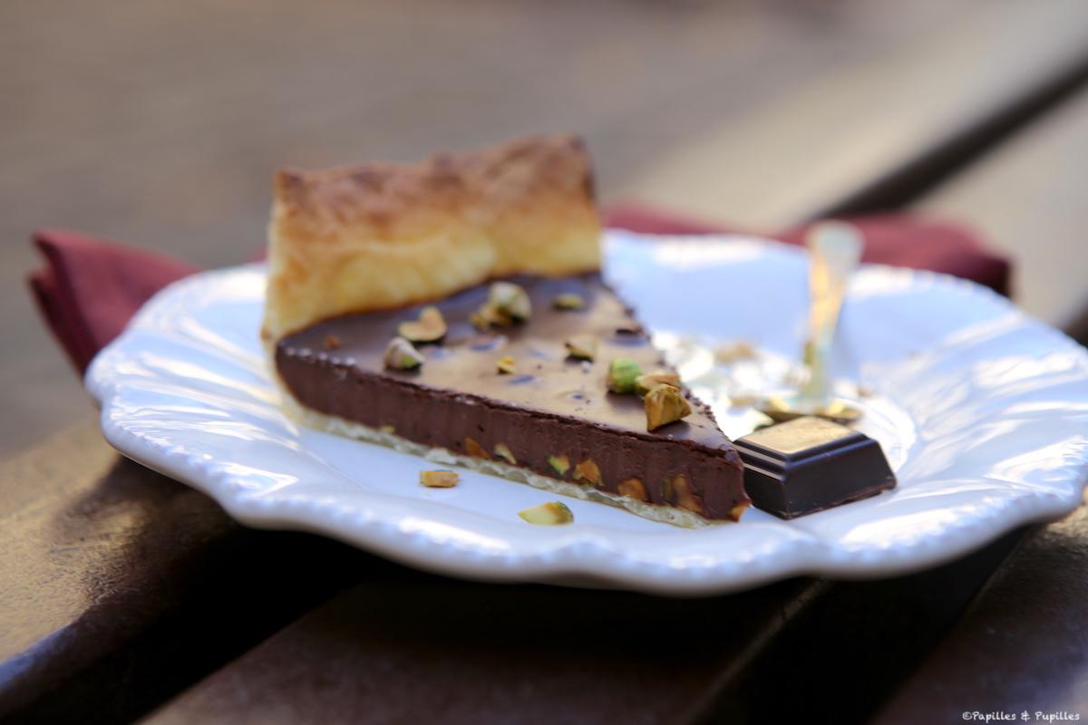 Tarte chocolat et pistaches
