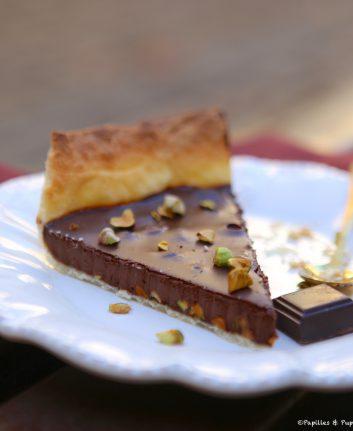 Tarte chocolat pistaches