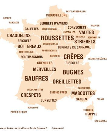 Carte de France des beignets