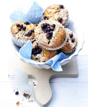 Muffins aux myrtilles sauvages et aux noix ©Wild Blueberry Association of North America