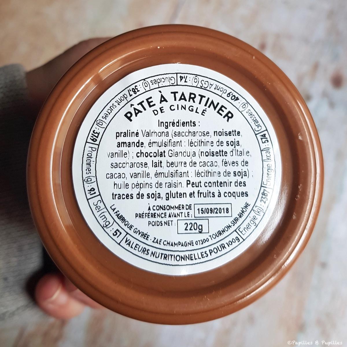 Composition pâte à tartiner de cinglé - La fabrique Givrée