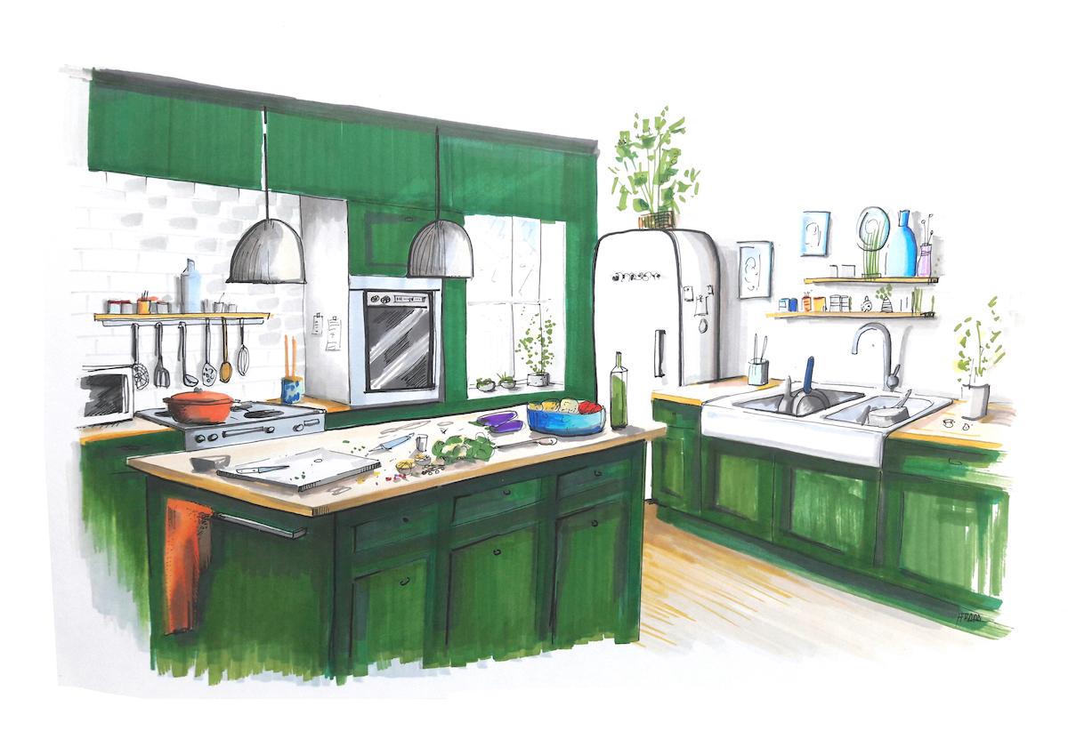 La cuisine idéale - Anne