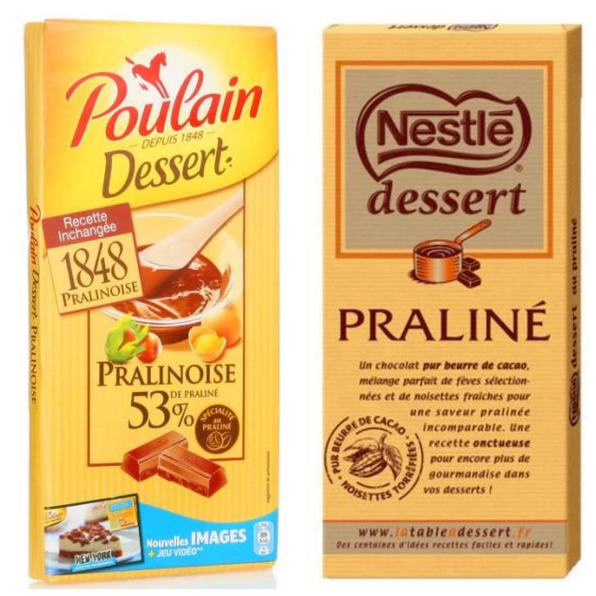 Pralinoise Poulain et Nestlé Dessert Praliné