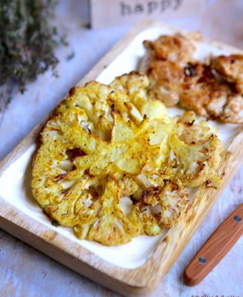 Chou fleur rôti au curry