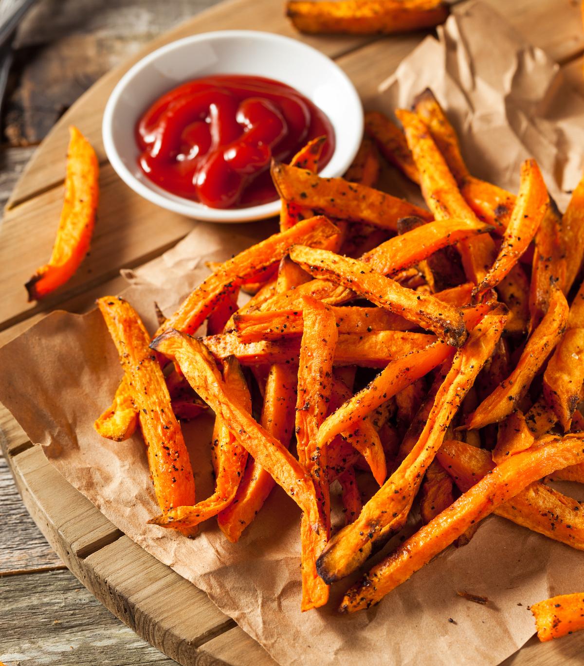 Frites de patates douces au four ©De Brent Hofacker shutterstock