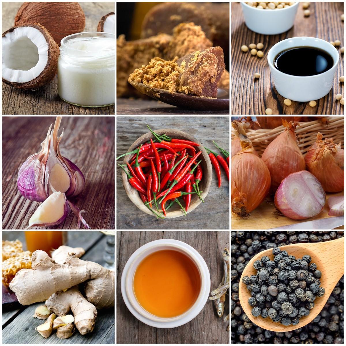 Ingrédients pour la cuisine Vietnamienne
