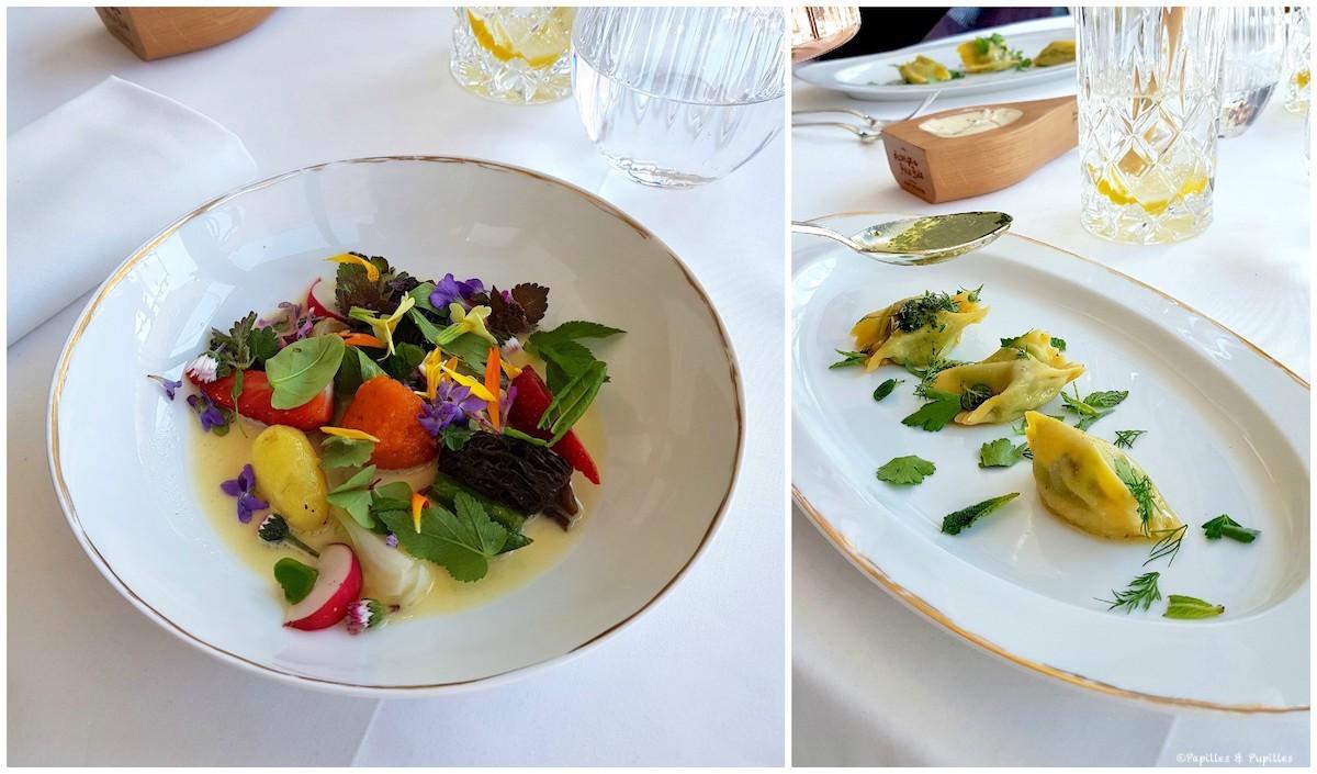 Cueillaison de printemps, plin d'escargots de Haute Savoie, herbes du jardin