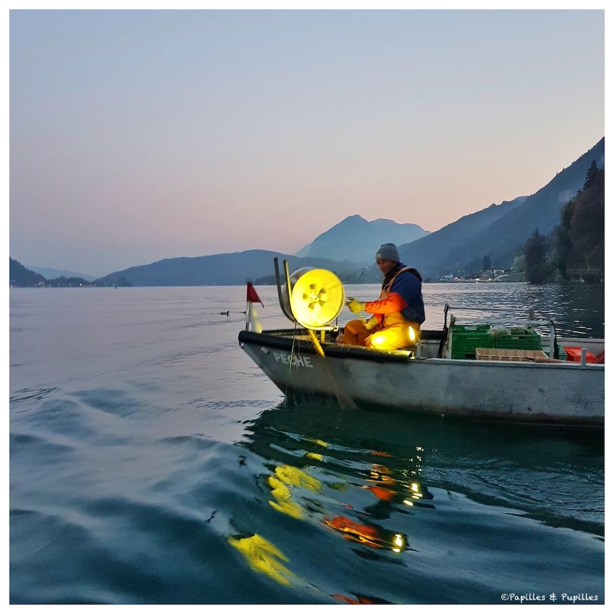 Pêcheur - Lac d'Annecy
