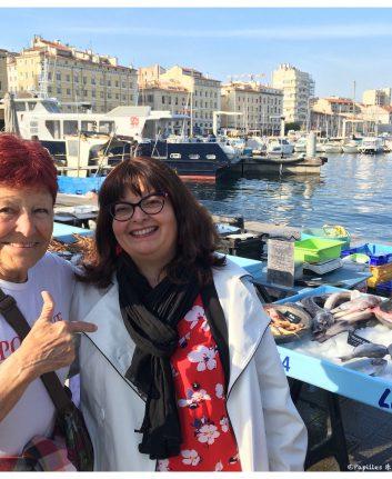 Avec Monique sur le Vieux Port - Marseille