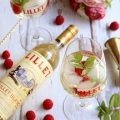Cocktail Lillet framboise tonic