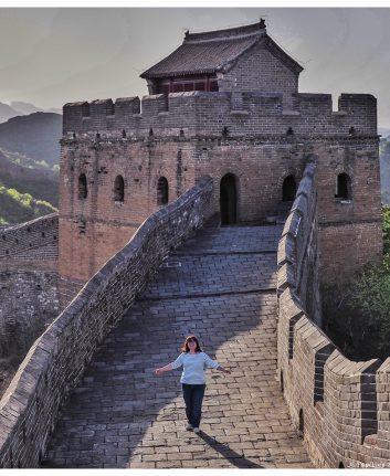 Danser sur la muraille de Chine