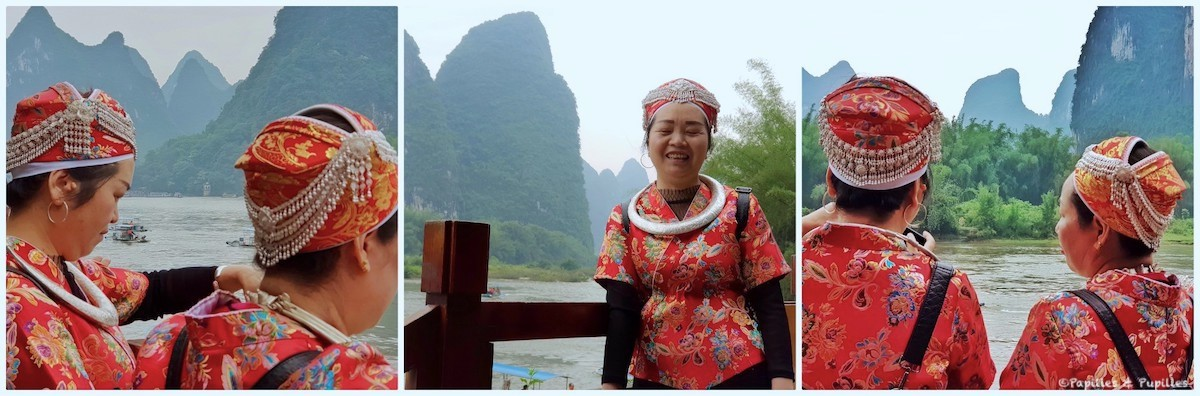 Guilin - Dames en habit traditionnel
