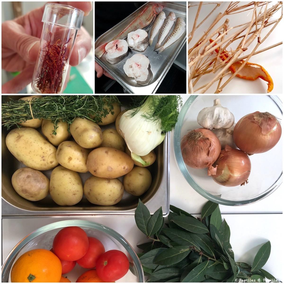 Ingrédients de la marinade
