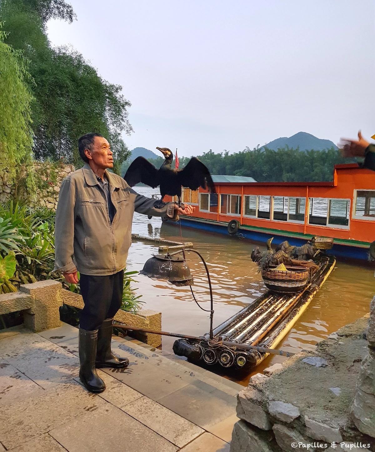 La pêche au Cormoran - Guilin