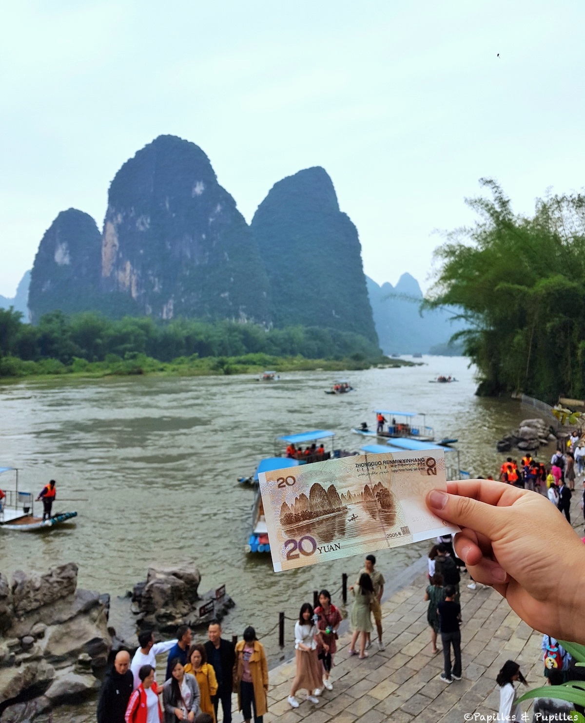 Le billet de 20 yuans Guilin