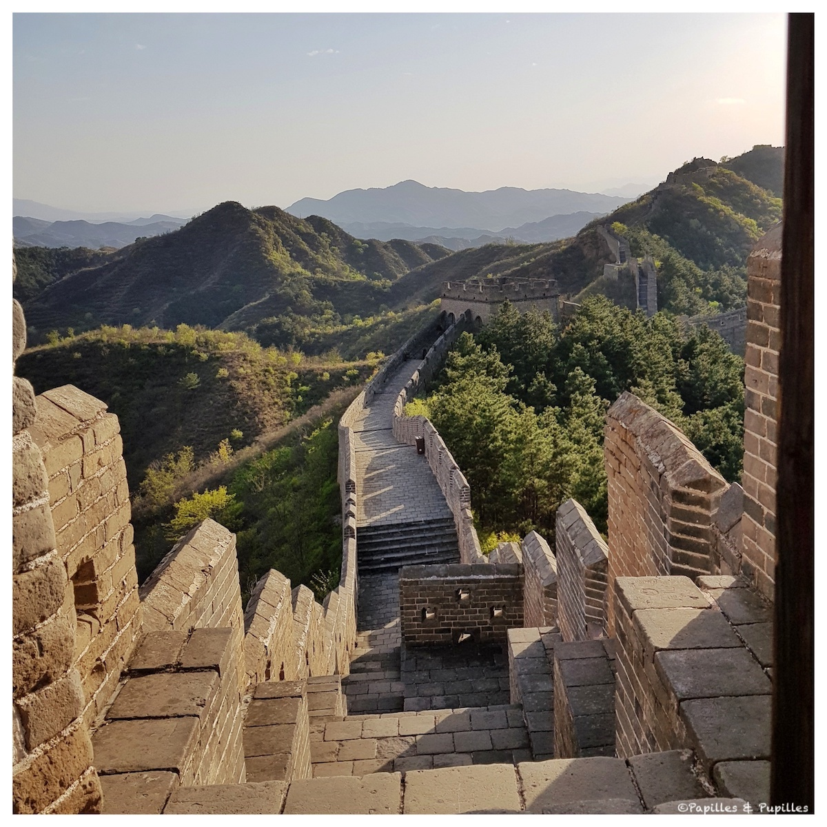 Les marches de la grande muraille