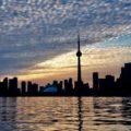 CN tower. Vue depuis Toronto Islands