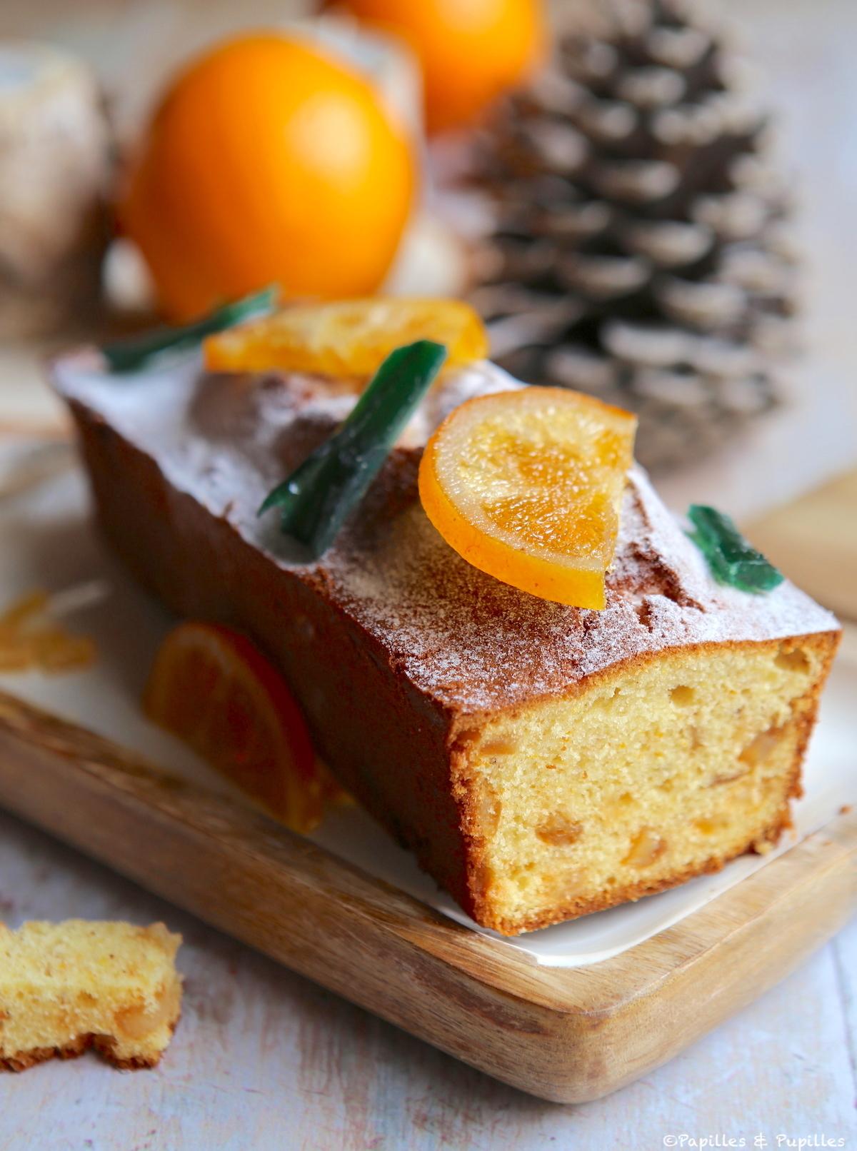 Cake à l'orange et aux épices de Noël