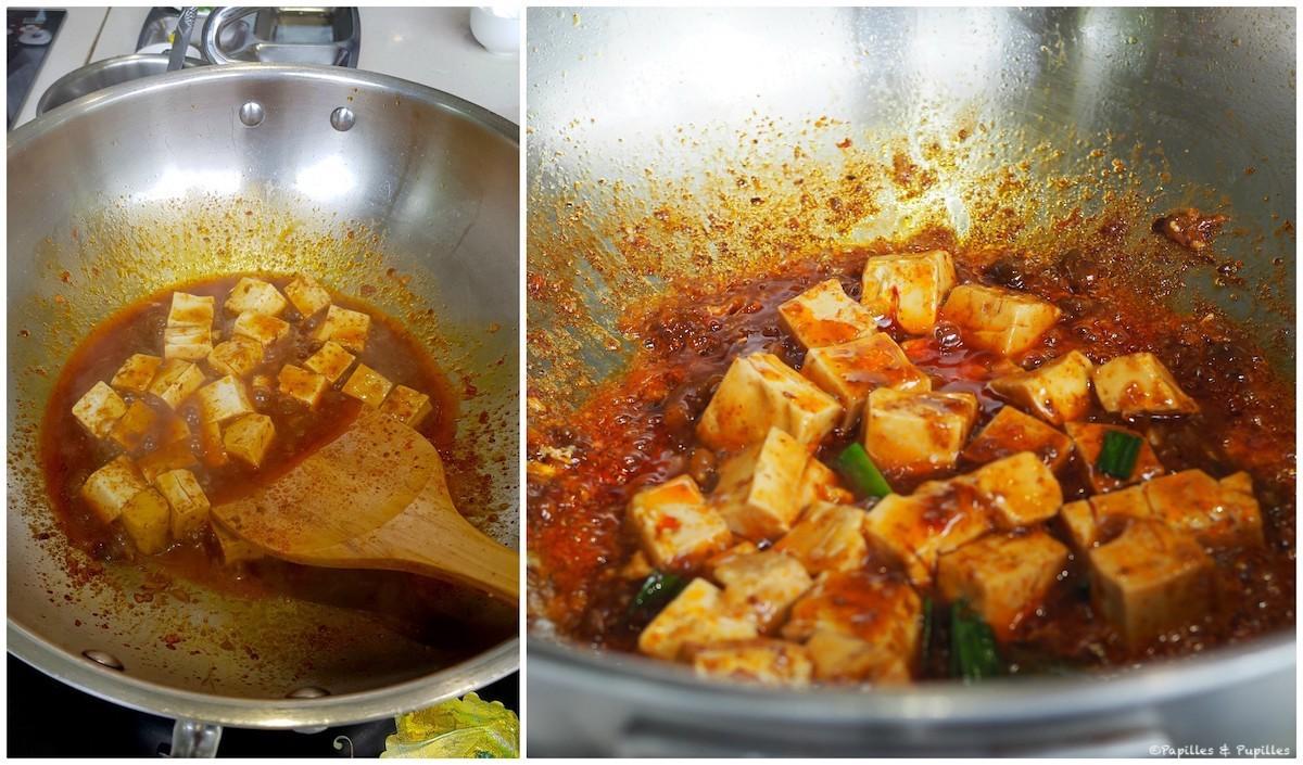 Cuisson du Tofu dans la sauce