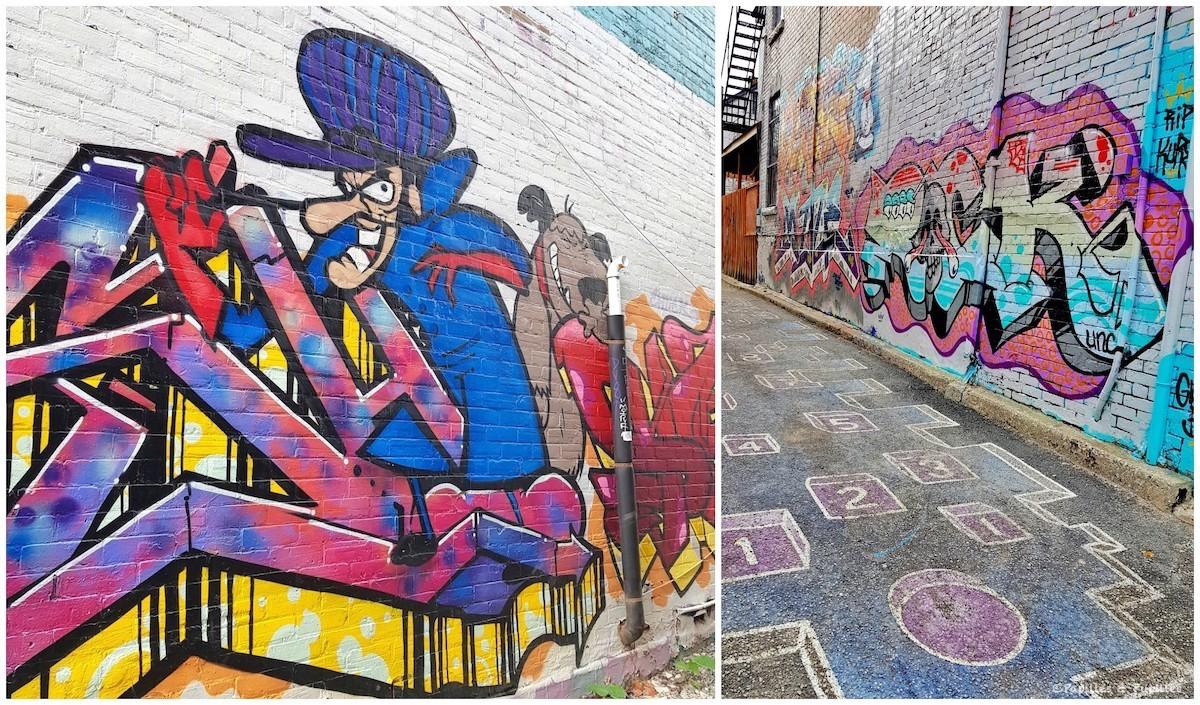Graffitis Toronto Satanas et Diabolo