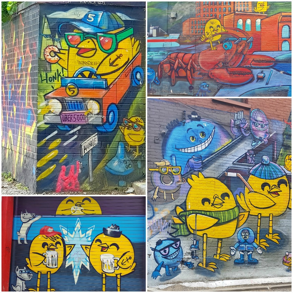 Graffity Alley - Les poussins d'Uber 5000