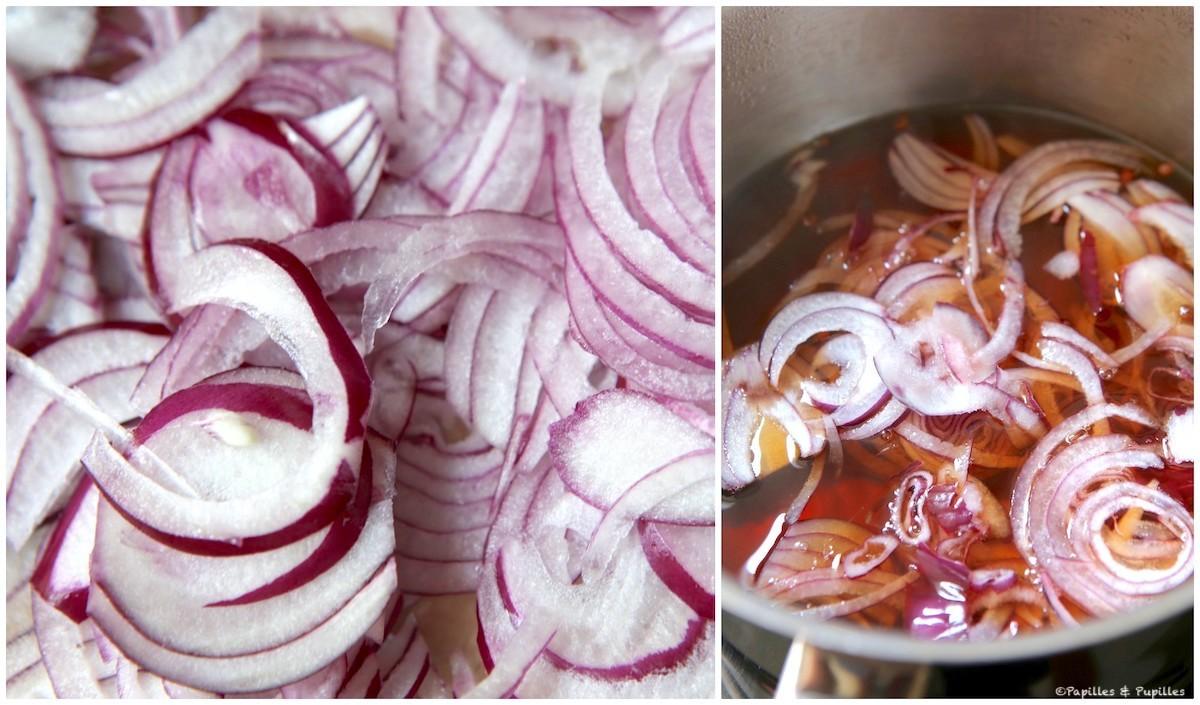 Préparation des pickles